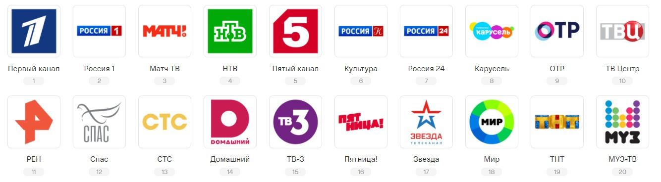Спутниковые каналы МТС ТВ