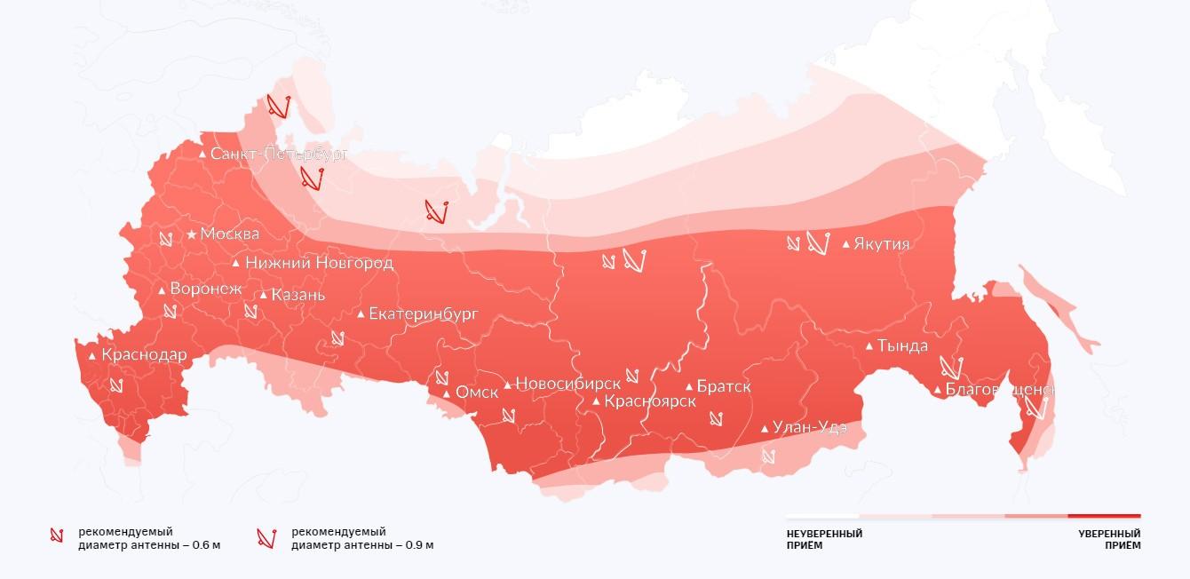 Карта покрытия МТС ТВ